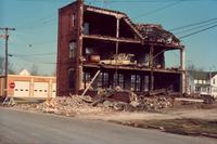 Demolition of Spaulding building, Grinnell, Iowa