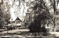 Woman's [sic] quadrangle and Mears Cottage, Grinnell College, Grinnell, Iowa