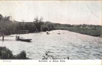 Boaters on the Floyd River, Alton, Iowa