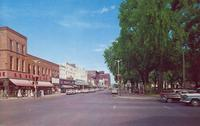 Main Street & Court House Square looking east, Marshalltown, Iowa