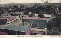 Bird's eye view of New Sharon, Iowa