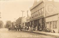 Street scene, New Sharon, Iowa