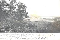 View of Mississippi River and Eagle Point Park, Clinton, Iowa