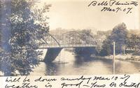 Bridge and river, Belle Plaine, Iowa