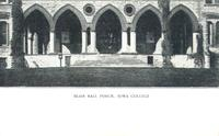 Blair Hall porch, Iowa College, Grinnell, Iowa