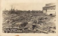 C.&N.W. R.R. Yards after tornado, May 21, 1918, Boone, Iowa