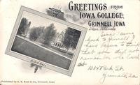 Greetings from Iowa College, Blair Hall, Iowa College, Grinnell, Iowa