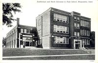 Auditorium and north entrance to high school, Maquoketa, Iowa