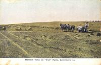 "Harvest time on ""Von"" farm, Livermore, Iowa"
