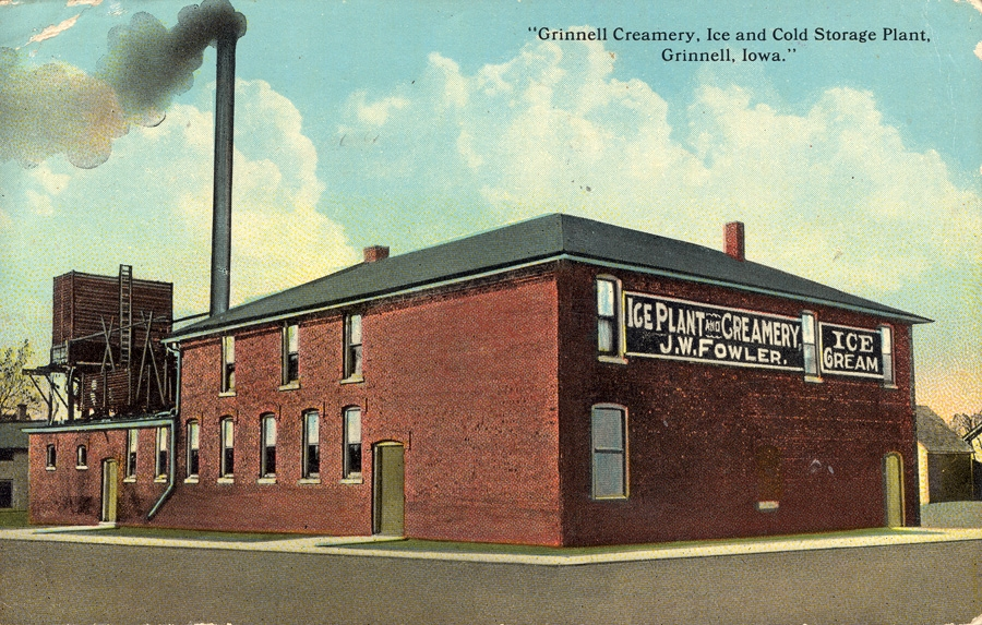 Grinnell Creamery Ice And Cold Storage Plant Iowa