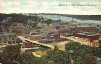 Bird's eye view, Burlington, Iowa