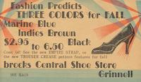 Brocks Central Shoe Store, Grinnell, Iowa