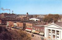 Aerial view looking northwest from Maytag Hotel, Newton, Iowa