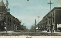 Fourth Avenue looking west, Grinnell, Iowa