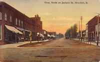 View, north on Jackson Street, Brooklyn, Iowa