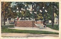 Band stand, Central Park, Charles City, Iowa