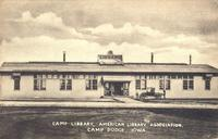 Camp library, American Library Association, Camp Dodge, Iowa