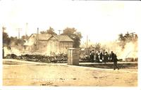 W.H. Miller Jr., Auto Filling Station Fire, June 18, 1914, Quimby, Iowa