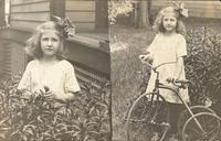 Young Girl with Tricycle, Oskaloosa, Iowa
