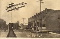 Biplane and Trolley, New Providence, Iowa