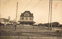 Chicago, Burlington & Quincy Station and Adams Street, Creston, Iowa