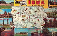 Greetings from Iowa, The Tall Corn State