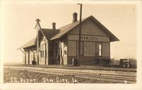 Illinois Central Depot, Dow City, Iowa