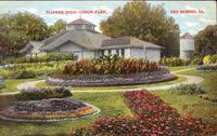 Flower beds, Union Park, Des Moines, Iowa