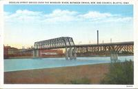 Douglas Street Bridge over the Missouri River, between Omaha, Neb., and Council Bluffs, Iowa