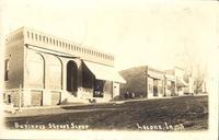 Business Street Scene, Lacona, Iowa