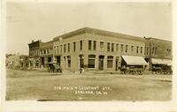 Corner of Main and Chestnut Streets, Earlham, Iowa