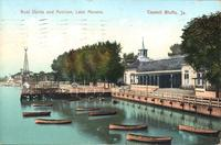 Boat docks and pavillion, Lake Mana[v]a, Council Bluffs, Iowa