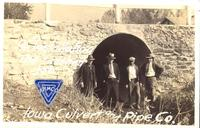 "96"" installation, the finished job, Iowa Culvert and Pipe Co., Des Moines, Iowa"