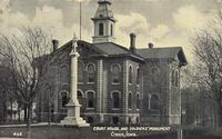 Court house and Soldier's Monument, Cresco, Iowa