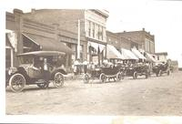 Parade of automobiles, Coin, Iowa