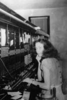 Betty Haines at the Switchboard