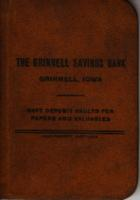 Grinnell Savings Bank Passbook