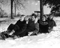 Students Sledding, 1956