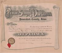 Public School Diploma, Poweshiek County, Iowa