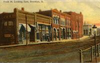 Front Street looking east, Brooklyn, Iowa