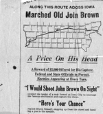 John Brown's route across Iowa