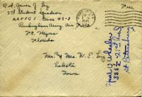 Jimmy Ley to Mr. and Mrs. W. E. Ley - January 15, 1943
