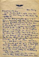 Jimmy Ley to Mr. and Mrs. W. E. Ley - April 20, 1943