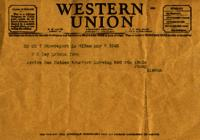 Jimmy Ley to Mr. and Mrs. W. E. Ley- May 7, 1943