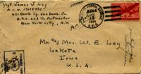 Harold McKelan to Jimmy Ley - May 9, 1943