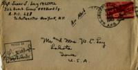 Jimmy Ley to Mr. and Mrs. W. E. Ley - August 12, 1943