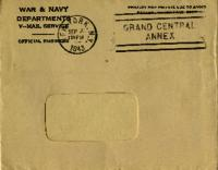 Jimmy Ley to Mr. and Mrs. W. E. Ley - August 26, 1943