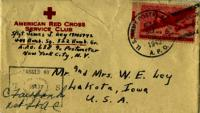 Jimmy Ley to Mr. and Mrs. W. E. Ley - August 30, 1943