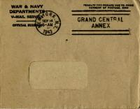 Jimmy Ley to Mr. and Mrs. W. E. Ley - September 7, 1943