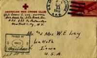 Jimmy Ley to Mr. and Mrs. W. E. Ley - September 9, 1943